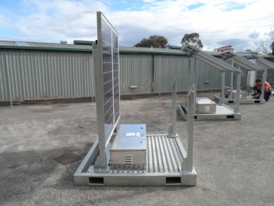 Remote Solar Charging Skid